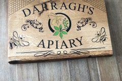 Apiary-business-sign-live-edge-wooden-sign