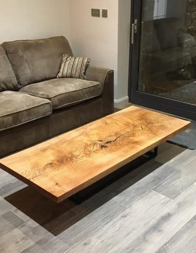 live edge sculpting coffee table
