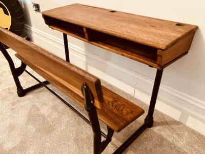 Traditional school desk