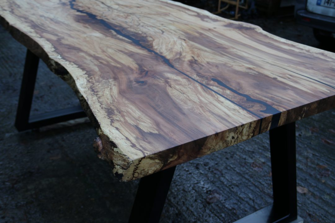 hand crafted beech table