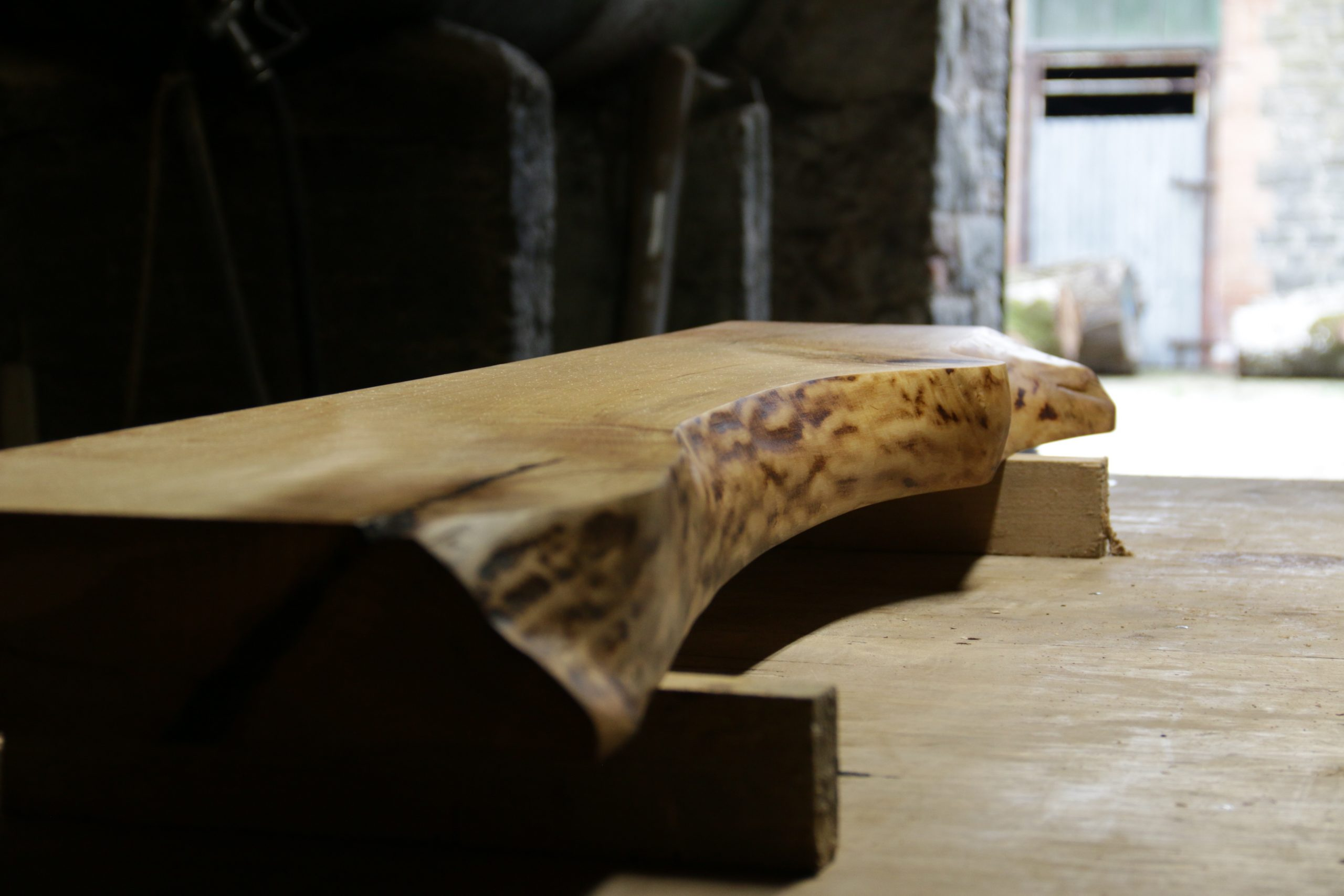 spalted beech table