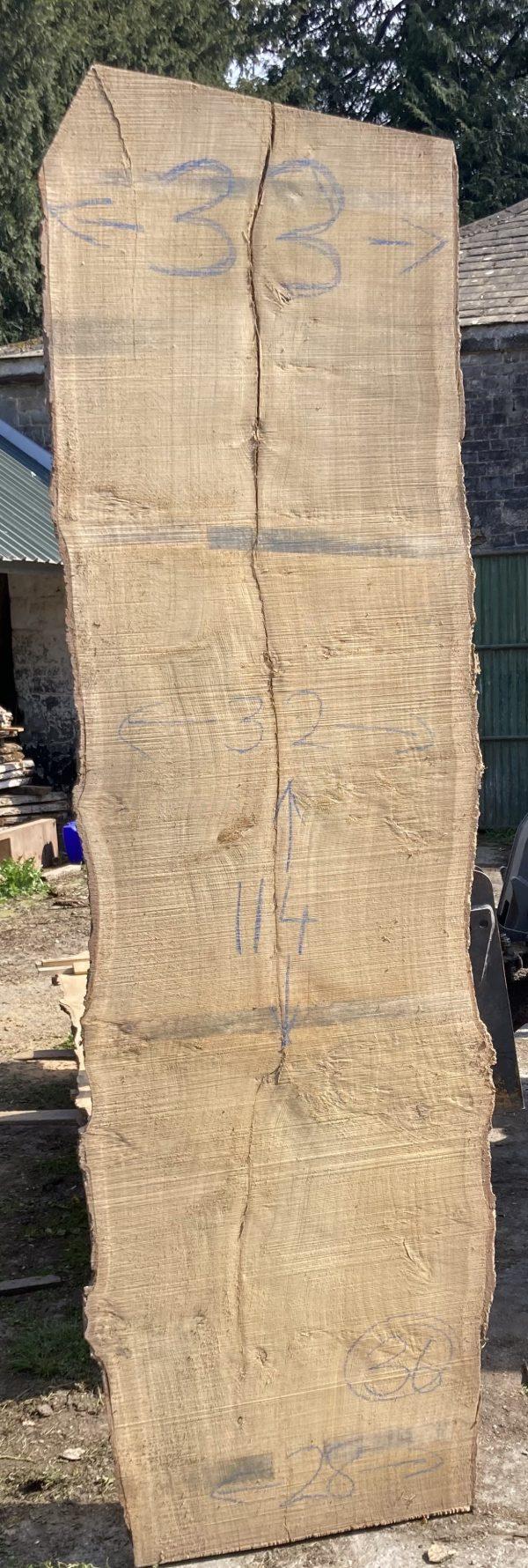 Oak - Raw live edge slab