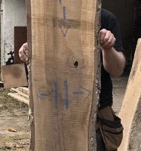 Walnut - Raw live edge slab