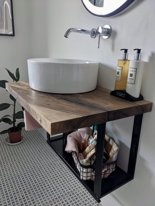 Live edge walnut bathroom vanity 2